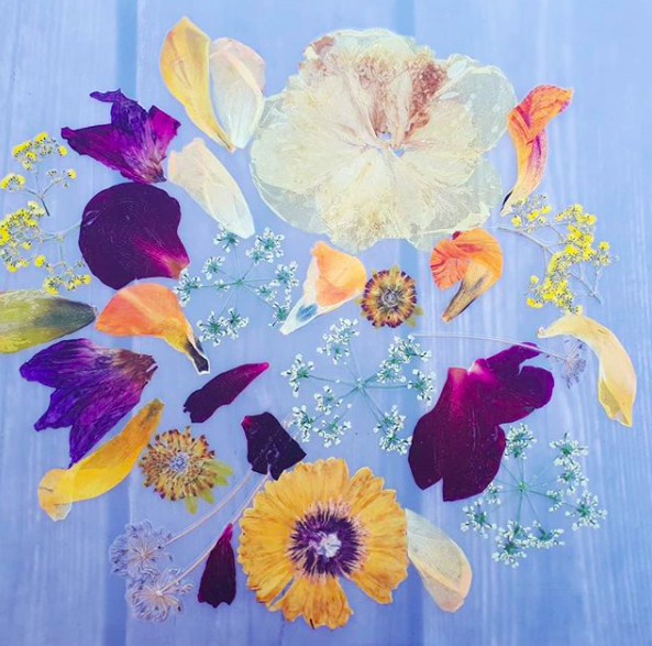 placemat gedroogde bloemen
