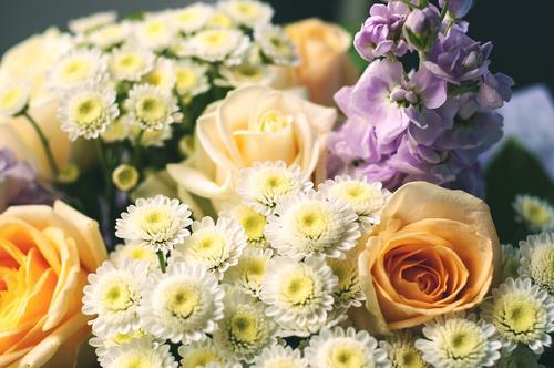 Bloemen voor het afscheid