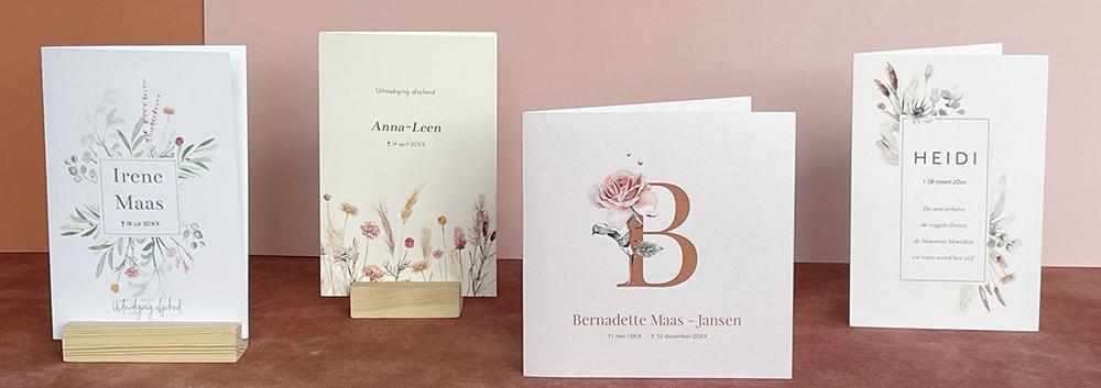 Persoonlijke rouwkaarten voor een liefdevol afscheid