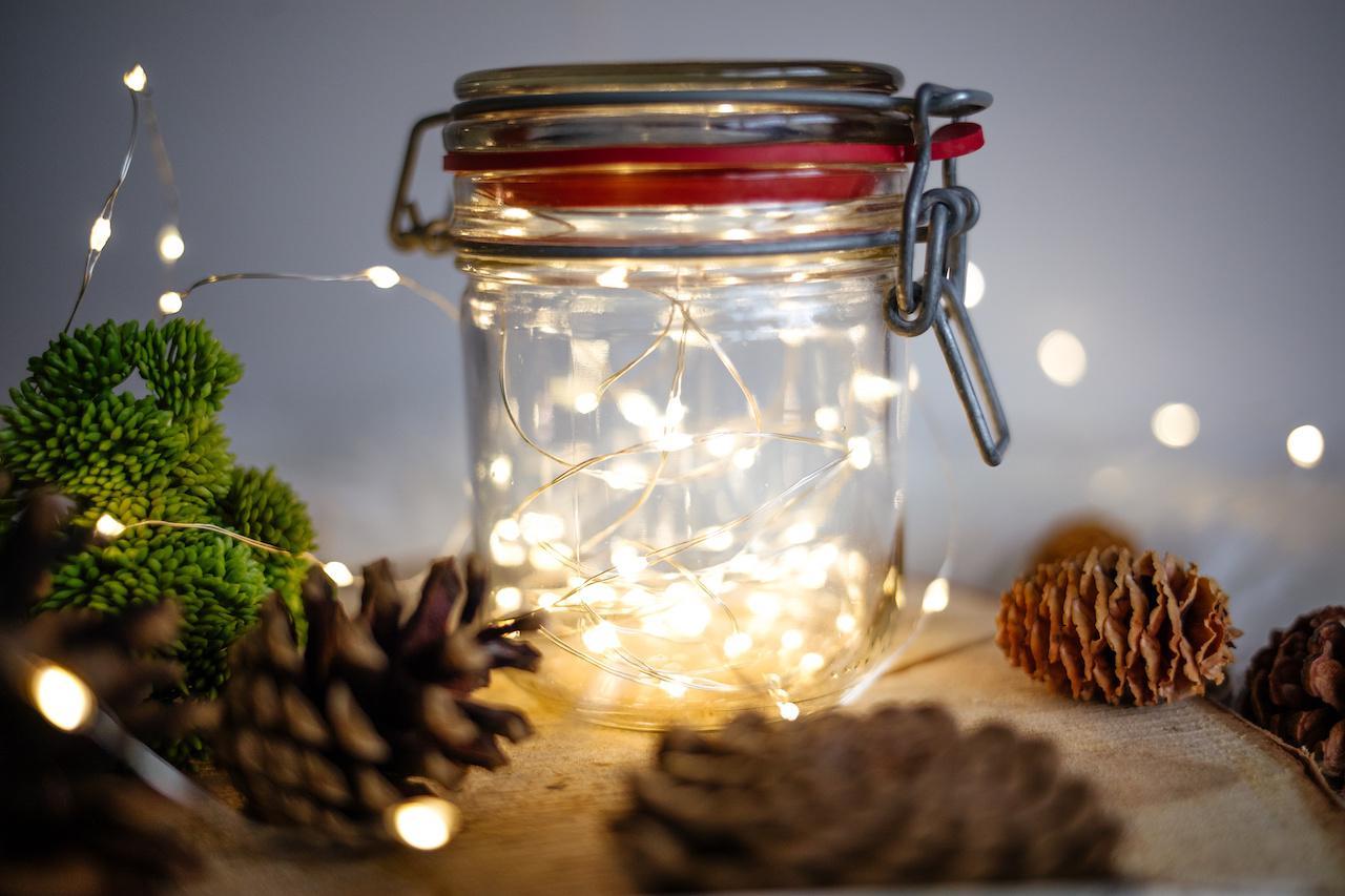 lichtjes in mason jar